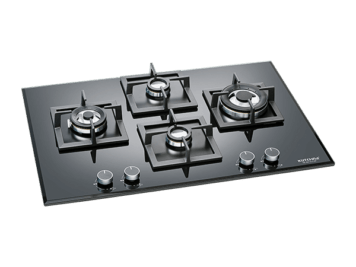 HB 4BX DLX MF Kutchina 4burner Hob 78cm with Brass Burners