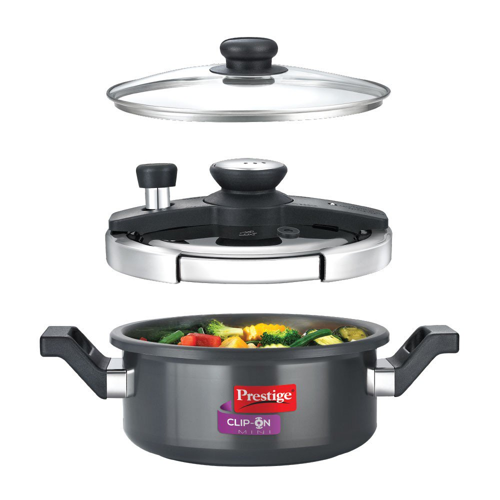 Prestige Clip - on Mini HA Pressure Cooker 3L with glass lid Accessory